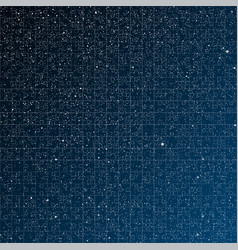 Starry night sky Puzzle pieces Part puzzle vector image