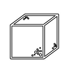 Sugar cube sweet icon vector