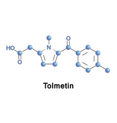 tolmetin is a nsaid vector image vector image