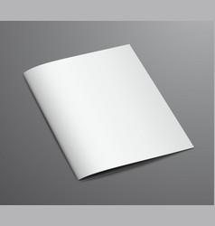 blank white closed brochure magazine vector image