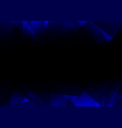 blue facet side abstract dark background vector image