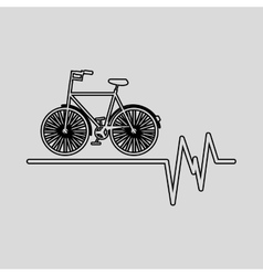 bycicle icon sport design graphic vector image vector image