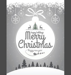 Christmas Message Design vector image