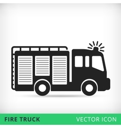 fire truck flat icon vector image