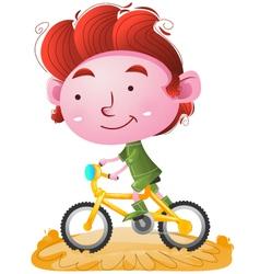 Kids riding bike vector
