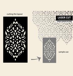 laser cut pattern stencil vector image