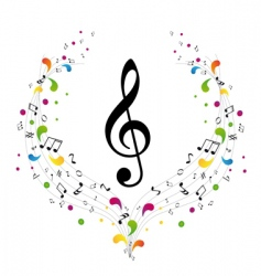 music logo treble clef and vector image