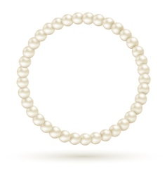 Pearl circle like frame isolated on white vector image