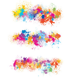 elements for design from paint stains vector image vector image