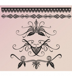 floral and borders vector image