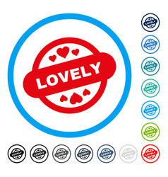 lovely stamp seal rounded icon vector image vector image