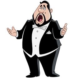male opera singer vector image