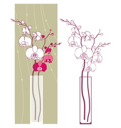 Orchids2 vector image vector image