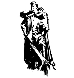 Warrior Monument to the heroes Second World War vector image vector image