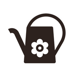 watering can and flower symbol vector image vector image