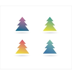 Abstract xmas tree icon set concept Logotype vector image vector image