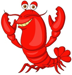Cute lobster cartoon vector image