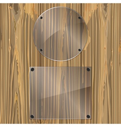 glass on a wood vector image