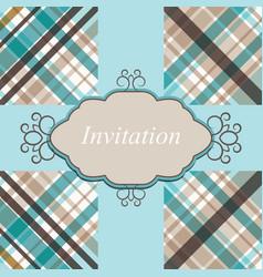 invitation card retro vector image vector image