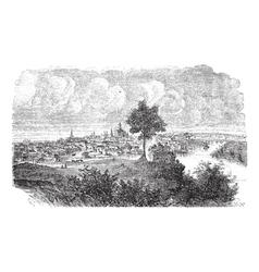 Nashville Tennessee vintage engraved vector image vector image