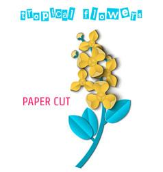 paper cut tropical-03 vector image vector image