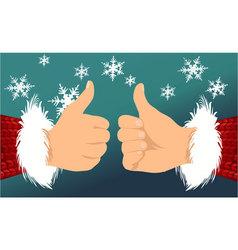 Santa Claus OK hand vector image vector image
