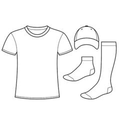 T-shirt Cap and Socks vector image vector image
