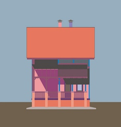 02 Colored house V vector image