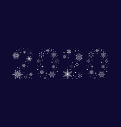 2020 from snowflakes new year vector image