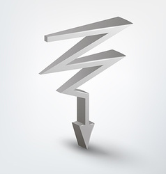 3d arrow vector image