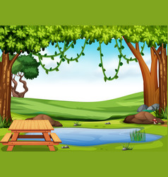 a beautiful nature landscape vector image