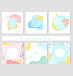 abstract cute pastel background and texture set vector image