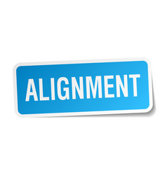 Alignment square sticker on white vector