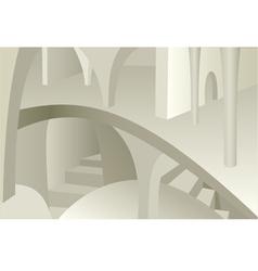 Architecture design of medieval interior vector