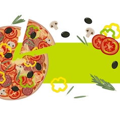 Banner with Pizza vector
