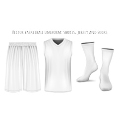Basketball uniform templates vector image