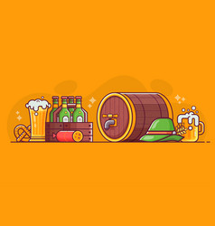 beer craft oktoberfest and brewery concept vector image