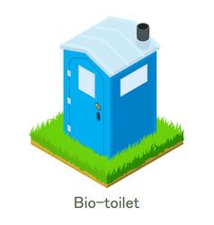 Bio-toilet icon isometric style vector