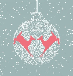 blue and white christmas ball vector image