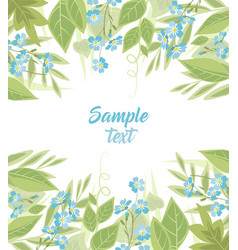 Blue forget me not flowers vector