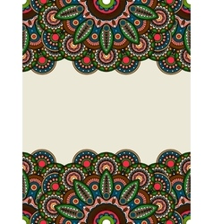 Boho hippie colored floral borders vector image