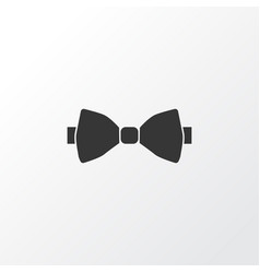 bow tie icon symbol premium quality isolated vector image