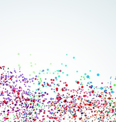 Bright paint stain dot liquid background vector image