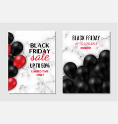 brochure set for black friday sale shiny black vector image