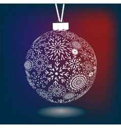 Christmas Ball Of Made Snowflakes vector
