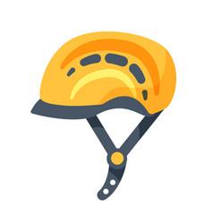 Climbing helmet sport equipment isolated on white vector