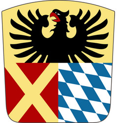 Coat of arms of donau-ries in swabia bavaria vector