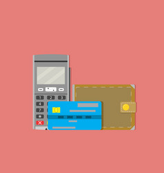 commercial paying transaction terminal vector image