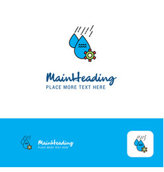creative water control logo design flat color vector image