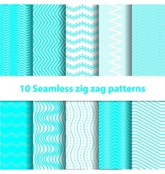 Cyan Seamless Chevron Patterns vector